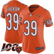 Wholesale Cheap Nike Bears #39 Eddie Jackson Orange Women's Stitched NFL Limited Rush 100th Season Jersey