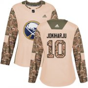 Wholesale Cheap Adidas Sabres #10 Henri Jokiharju Camo Authentic 2017 Veterans Day Women's Stitched NHL Jersey