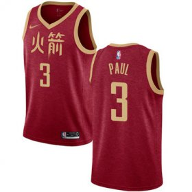 Wholesale Cheap Rockets #3 Chris Paul Red Basketball Swingman City Edition 2018-19 Jersey
