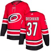 Wholesale Cheap Adidas Hurricanes #37 Andrei Svechnikov Red Home Authentic Stitched Youth NHL Jersey