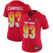 Wholesale Cheap Nike Jaguars #93 Calais Campbell Red Women's Stitched NFL Limited AFC 2019 Pro Bowl Jersey