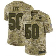 Wholesale Cheap Nike Cowboys #50 Sean Lee Camo Men's Stitched NFL Limited 2018 Salute To Service Jersey