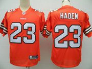 Wholesale Cheap Browns #23 Joe Haden Orange Stitched NFL Jersey