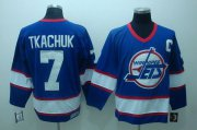 Wholesale Cheap Jets #7 Keith Tkachuk Stitched Blue CCM Throwback NHL Jersey