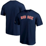 Wholesale Cheap Boston Red Sox Majestic 2019 Gold Program Wordmark T-Shirt Navy