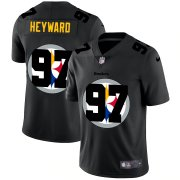 Wholesale Cheap Pittsburgh Steelers #97 Cameron Heyward Men's Nike Team Logo Dual Overlap Limited NFL Jersey Black