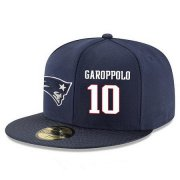 Wholesale Cheap New England Patriots #10 Jimmy Garoppolo Snapback Cap NFL Player Navy Blue with White Number Stitched Hat