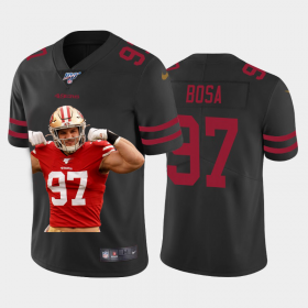Cheap San Francisco 49ers #97 Nick Bosa Nike Team Hero 2 Vapor Limited NFL 100 Jersey Black