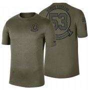 Wholesale Cheap Indianapolis Colts #53 Darius Leonard Olive 2019 Salute To Service Sideline NFL T-Shirt