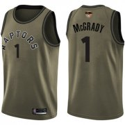 Wholesale Cheap Raptors #1 Tracy Mcgrady Green Salute to Service 2019 Finals Bound Basketball Swingman Jersey