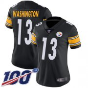 Wholesale Cheap Nike Steelers #13 James Washington Black Team Color Women's Stitched NFL 100th Season Vapor Limited Jersey