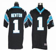 Wholesale Cheap Nike Panthers #1 Cam Newton Black Team Color Youth Stitched NFL Elite Jersey