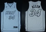 Wholesale Cheap Miami Heat #34 Ray Allen Revolution 30 Swingman White Big Color Jersey