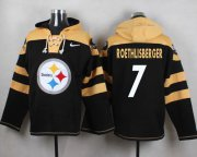Wholesale Cheap Nike Steelers #7 Ben Roethlisberger Black Player Pullover NFL Hoodie