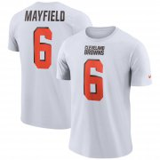 Wholesale Cheap Nike Cleveland Browns #6 Baker Mayfield Dri-FIT Player Pride 3.0 Name & Number T-Shirt White
