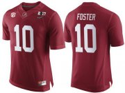 Wholesale Cheap Men's Alabama Crimson Tide #10 Reuben Foster Red 2017 Championship Game Patch Stitched CFP Nike Limited Jersey