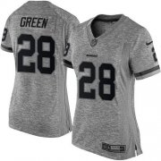 Wholesale Cheap Nike Redskins #28 Darrell Green Gray Women's Stitched NFL Limited Gridiron Gray Jersey