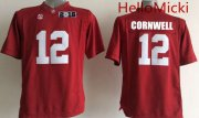 Wholesale Cheap Men's Alabama Crimson Tide #12 David Cornwell Red 2016 BCS College Football Nike Limited Jersey