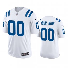 Wholesale Cheap Indianapolis Colts Custom Men\'s Nike White 2020 Vapor Limited Jersey