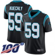 Wholesale Cheap Nike Panthers #59 Luke Kuechly Black Team Color Youth Stitched NFL 100th Season Vapor Limited Jersey