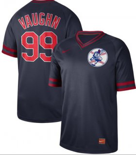 Wholesale Cheap Nike Indians #99 Ricky Vaughn Navy Authentic Cooperstown Collection Stitched MLB Jersey