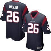 Wholesale Nike Texans #26 Lamar Miller Navy Blue Team Color Youth Stitched NFL Elite Jersey