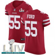 Wholesale Cheap Nike 49ers #55 Dee Ford Red Super Bowl LIV 2020 Team Color Men's Stitched NFL Vapor Untouchable Elite Jersey