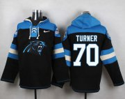 Wholesale Cheap Nike Panthers #70 Trai Turner Black Player Pullover NFL Hoodie