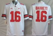 Wholesale Cheap Ohio State Buckeyes #16 J.T. Barrett 2014 White Limited Jersey