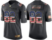 Wholesale Cheap Nike Cowboys #82 Jason Witten Black Men's Stitched NFL Limited USA Flag Salute To Service Jersey