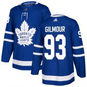 Wholesale Cheap Adidas Maple Leafs #93 Doug Gilmour Blue Home Authentic Stitched Youth NHL Jersey