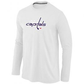 Wholesale Cheap NHL Washington Capitals Big & Tall Logo Long Sleeve T-Shirt White