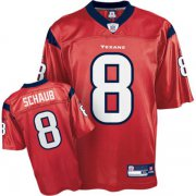 Wholesale Cheap Texans #8 Matt Schaub Red Stitched NFL Jersey