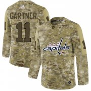 Wholesale Cheap Adidas Capitals #11 Mike Gartner Camo Authentic Stitched NHL Jersey