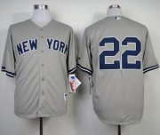 Wholesale Cheap Yankees #22 Jacoby Ellsbury Grey Stitched MLB Jersey