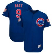 Wholesale Cheap Cubs #9 Javier Baez Blue 2019 Spring Training Flex Base Stitched MLB Jersey