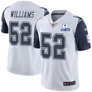 Wholesale Cheap Nike Cowboys #52 Connor Williams White Men's Stitched With Established In 1960 Patch NFL Limited Rush Jersey