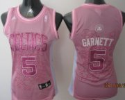 Wholesale Cheap Boston Celtics #5 Kevin Garnett Pink Womens Jersey