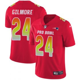 Wholesale Cheap Nike Patriots #24 Stephon Gilmore Red Men\'s Stitched NFL Limited AFC 2019 Pro Bowl Jersey