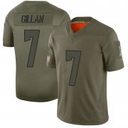 Wholesale Cheap Men's Cleveland Browns #7 Jamie Gillan Camo Limited 2019 Salute to Service Nike Jersey