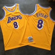 Wholesale Cheap Lakers 8 Kobe Bryant Yellow 1996-97 Hardwood Classics Jersey