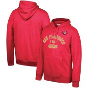 Wholesale Cheap San Francisco 49ers Mitchell & Ness Team History Pullover Hoodie Scarlet