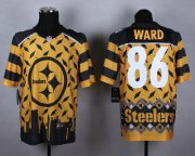 Wholesale Nike Steelers #86 Hines Ward Gold Men's Stitched NFL Elite Noble Fashion Jersey