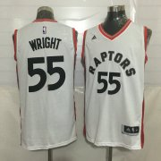 Wholesale Cheap Men's Toronto Raptors #55 Delon Wright White New NBA Rev 30 Swingman Jersey