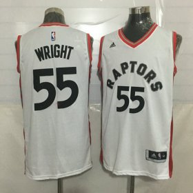 Wholesale Cheap Men\'s Toronto Raptors #55 Delon Wright White New NBA Rev 30 Swingman Jersey