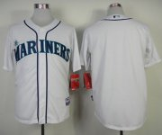 Wholesale Cheap Mariners Blank White Cool Base Stitched MLB Jersey