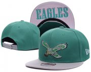 Wholesale Cheap NFL Philadelphia Eagles Fresh Logo Green Adjustable Hat