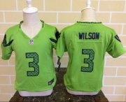 Wholesale Cheap Toddler Nike Seahawks #3 Russell Wilson Green Alternate Stitched NFL Elite Jersey
