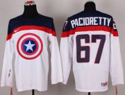 Wholesale Cheap Olympic Team USA #67 Max Pacioretty White Captain America Fashion Stitched NHL Jersey