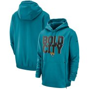 Wholesale Cheap Jacksonville Jaguars Nike Sideline Local Lockup Performance Pullover Hoodie Teal